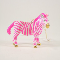 Ornament - Blown Glass - Fantastical Zebra