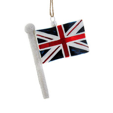 Ornament - Blown Glass - Union Jack Flag