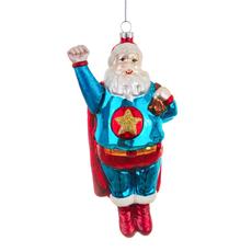 Ornament - Glass Bauble -  Super Santa