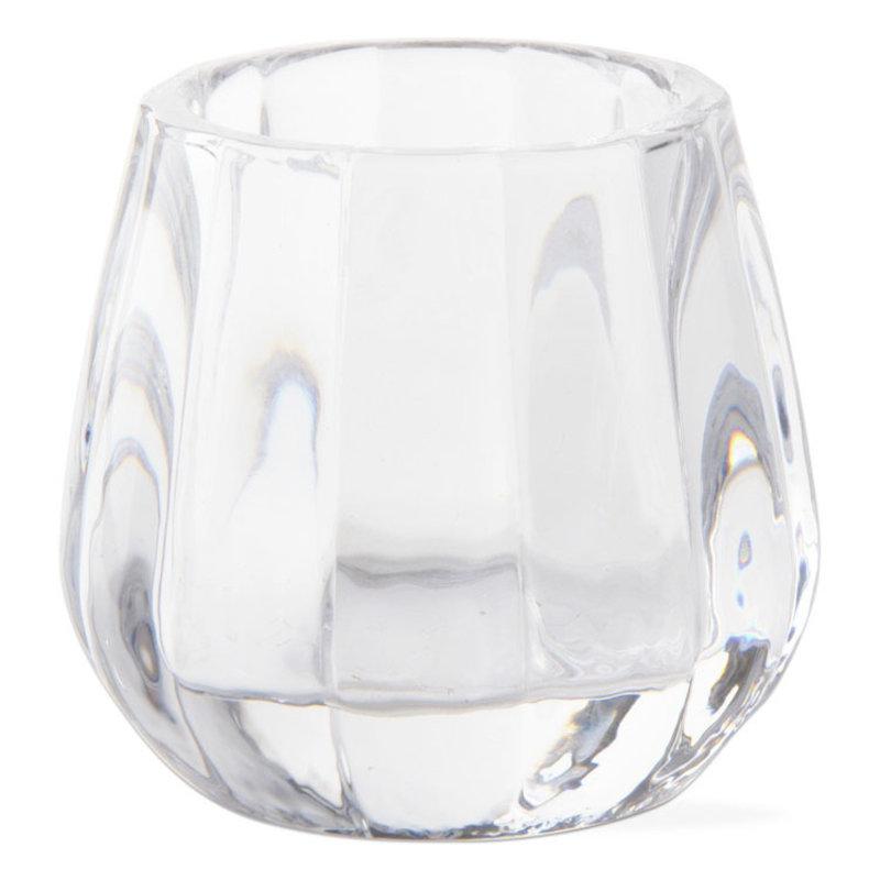 Tealight Holder - Ribbed Glass
