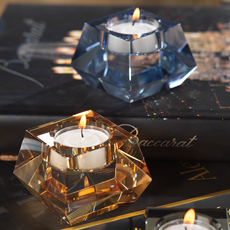Tealight Holder - Crystal - Multiple Colors & Sizes