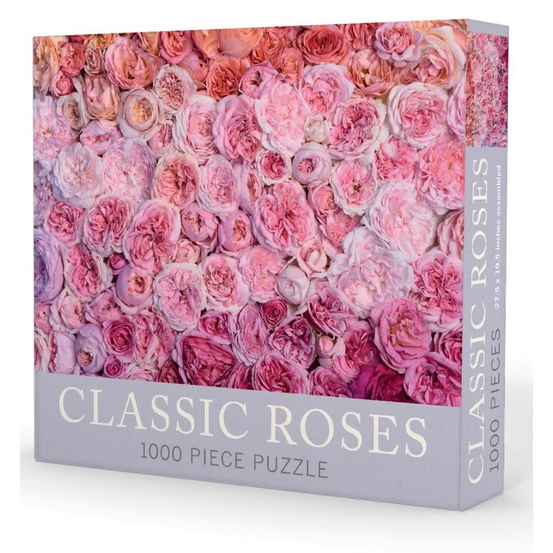 """Gibbs Smith Publisher Puzzle - Classic Roses - 1000 Pieces - 27.5"""" x 19.5"""""""
