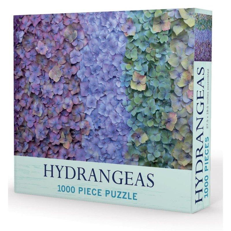 """MH Puzzle - Hydrangeas - 1000 Pieces - 27.5"""" x 19.5"""""""