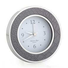 MH Alarm Clock - Round - Dove Croc - Silver
