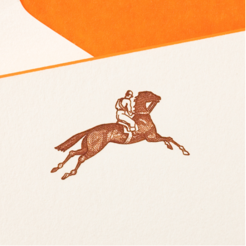 MH Boxed Notecards - Equestrian - Brown on Ecru