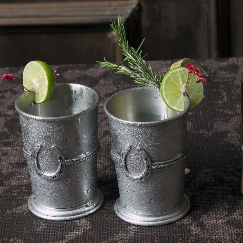 Vagabond House Julep Cup - Equestrian - Pewter