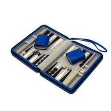 Backgammon - Travel Set -  Blue Ostrich