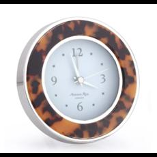 MH Alarm Clock - Round -  Tortoise - Gold