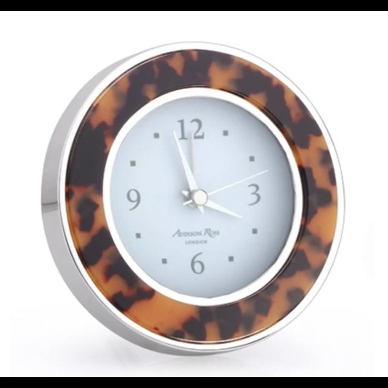 Addison Ross LTD Alarm Clock - Round -  Tortoise - Gold