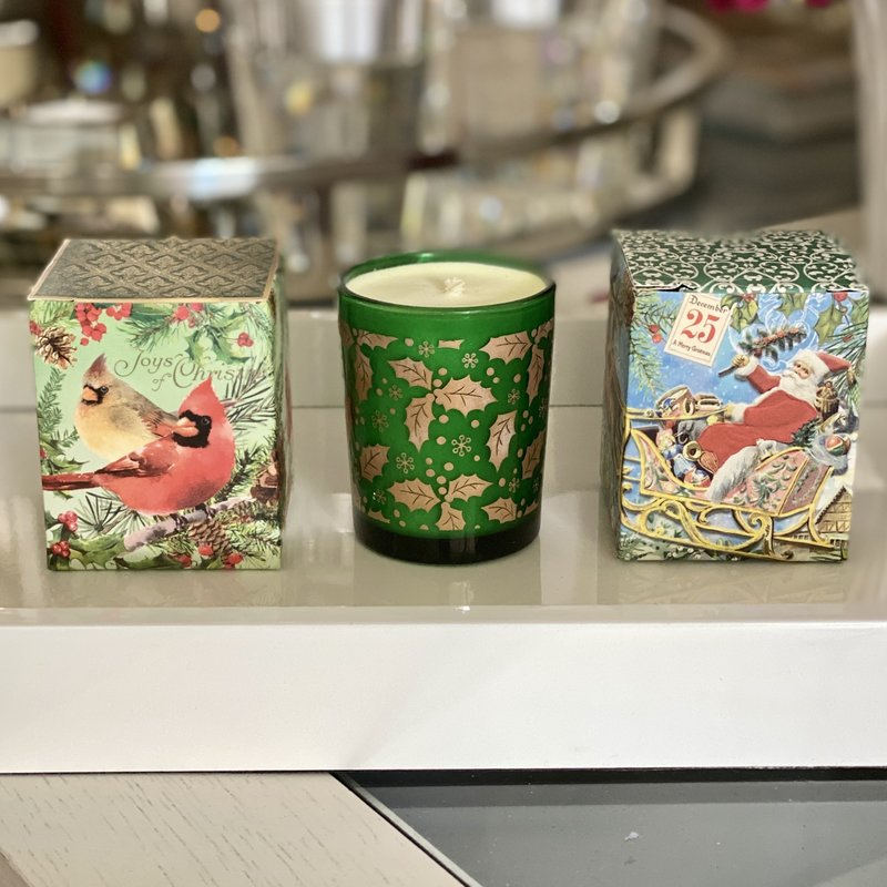 Christmas Votive - Assorted Box Design - Spruce Scent