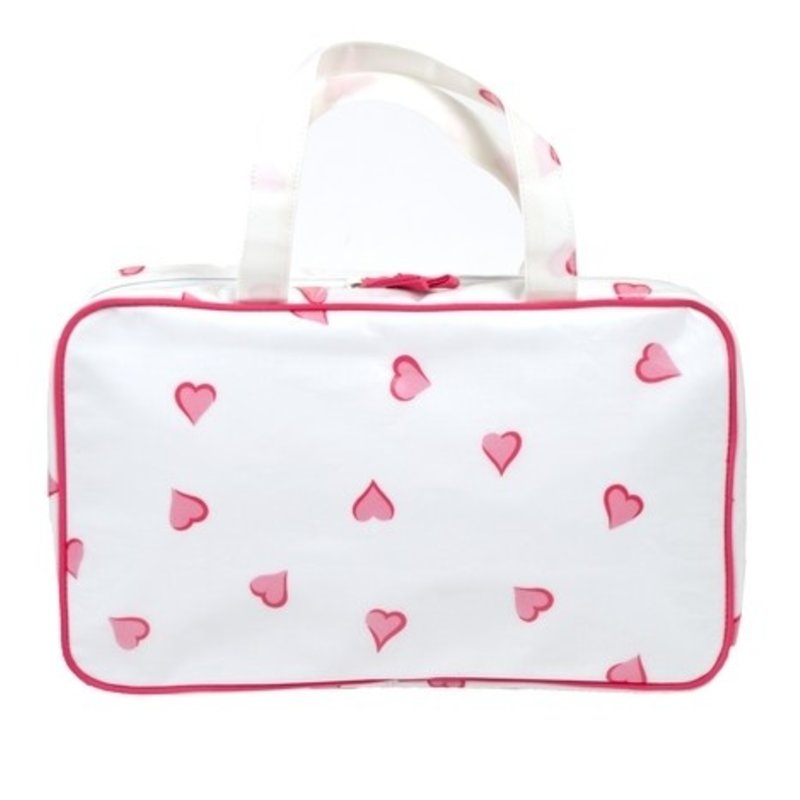 Bag - Trotter - Coeurs - Pink - Laminated