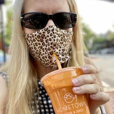 Face Mask - Juice Bar - Cheetah Grey