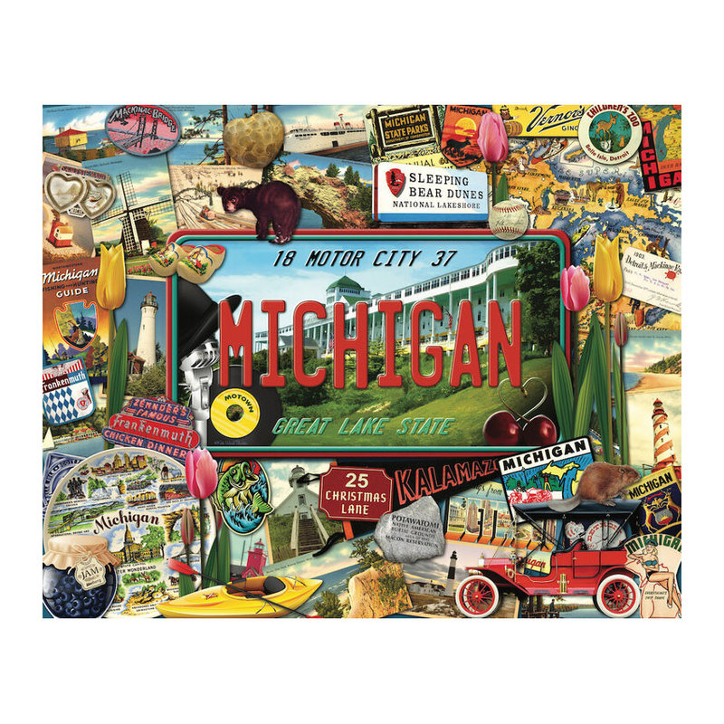 Hart Puzzles Puzzle - Michigan by Kate Thacker- 1000 pieces