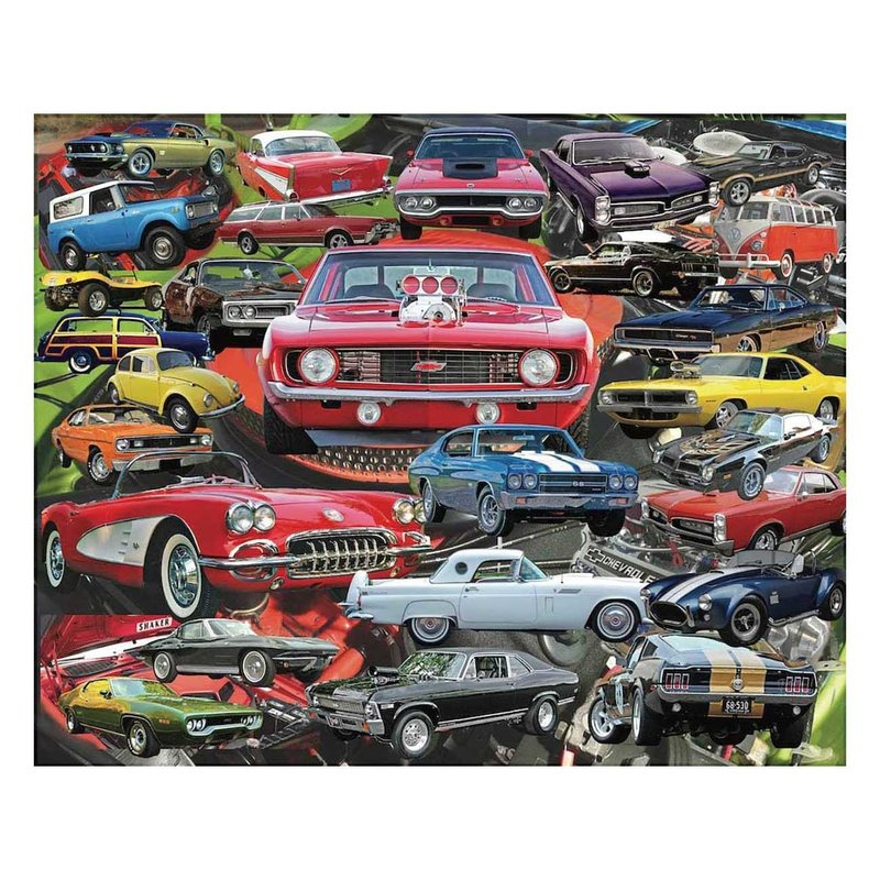 Hart Puzzles Puzzle - Boomers' Favorite Cars - 1000 pieces