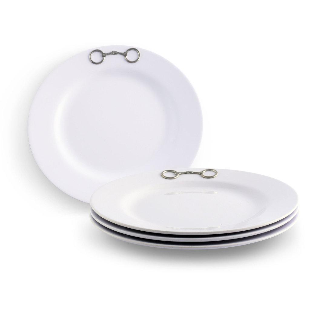 Vagabond House Plates - Equestrian Bit - Pewter & Melamine - S/4