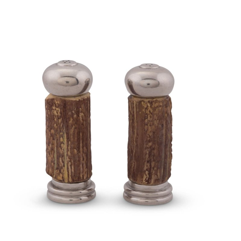 Vagabond House Salt & Pepper - Antler & Pewter