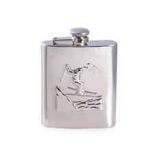 MH Flask - Ski Accent - Stainless - 8 oz.