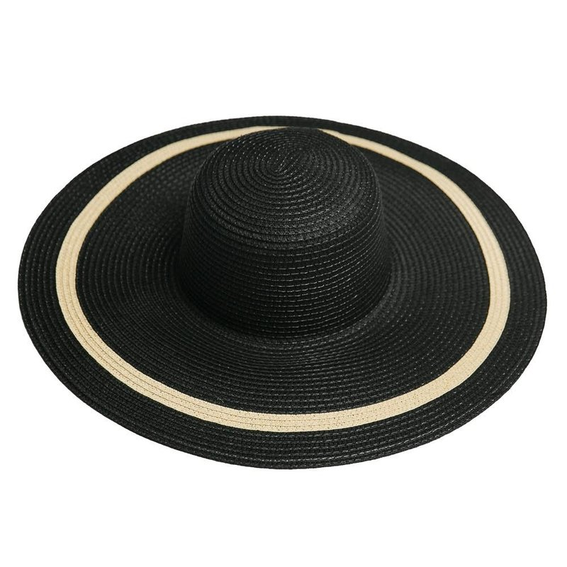 MH Hat - Liv - Black w/Natural Accents