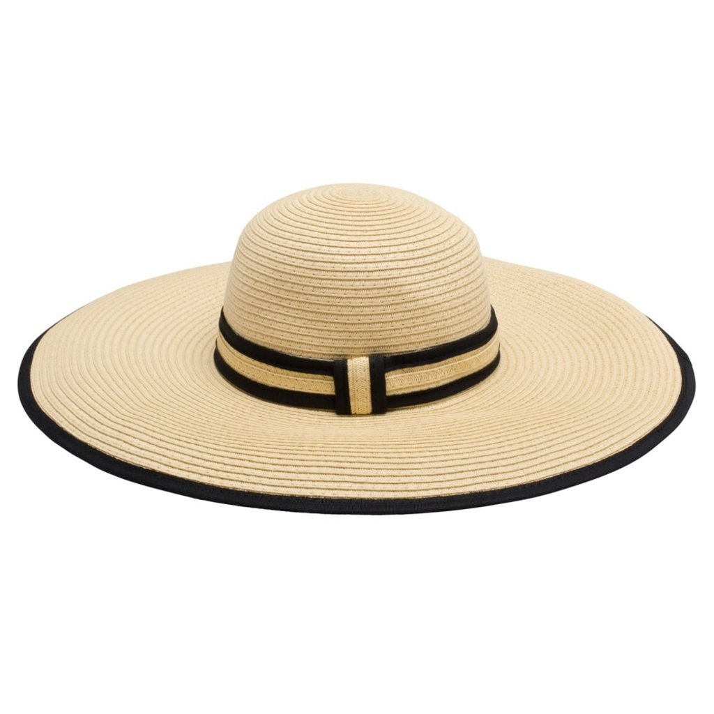 TopItOff Hat - Ambrose -Natural w/Black Accents