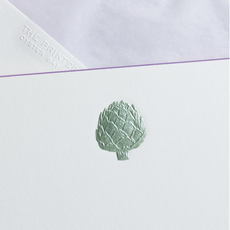 The Printery Boxed Notecards - Artichoke - Metallic