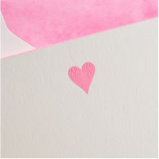 MH Boxed Notecards - Heart - Hot Pink