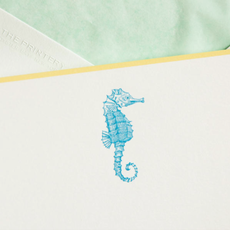 The Printery Boxed Notecards - Seahorse - S/10