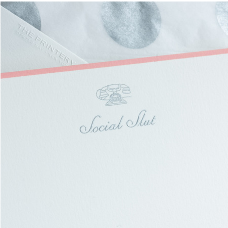 MH Boxed Notecards - Social Slut