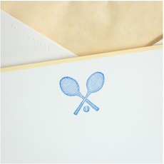 The Printery Boxed Notecards - Tennis Raquets