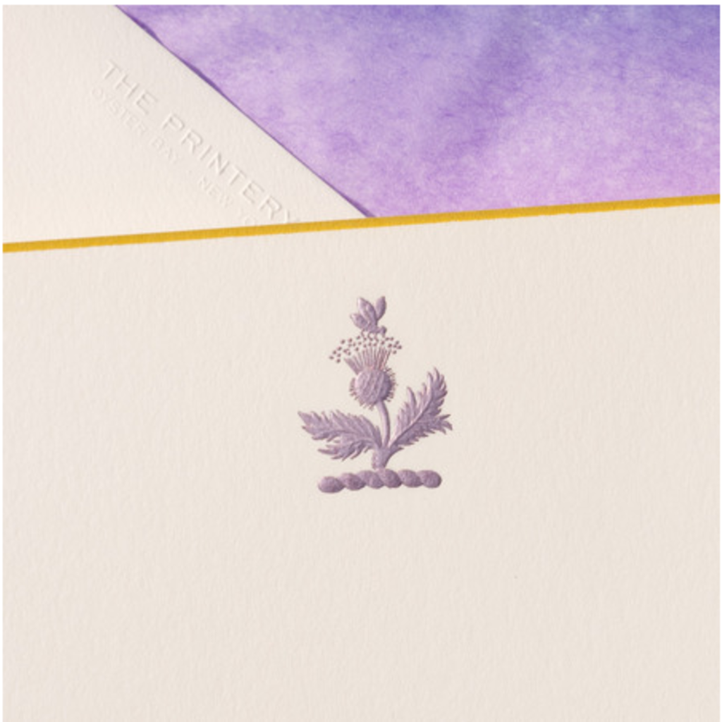 The Printery Boxed Notecards - Thistle - Purple