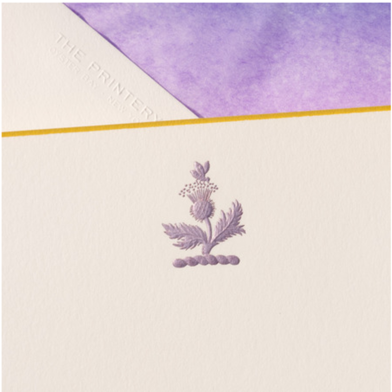 MH Boxed Notecards - Thistle - Purple