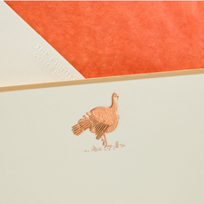 The Printery Boxed Notecards - Turkeys - Copper