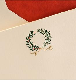 MH Boxed Notecards - Wreath - Holly & Mistletoe
