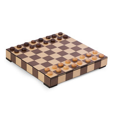 MH Chess & Checkers Set - Matted Inlay w/Drawer