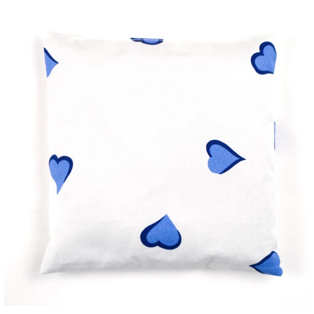 D. Porthault Sachet - Square - Coeurs - Blue