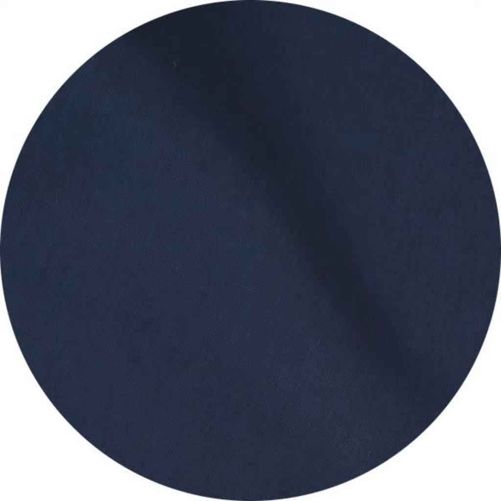 MH Tablecloth - Solid Linen -Navy Blue - Round 68""