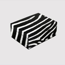 "MH Box- Lacquered - Zebra - Medium - 8"" x 6"""