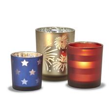 MH Tealight Holders - Patriotic -