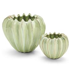 MH Vase - Celadon Gourd Ceramic -