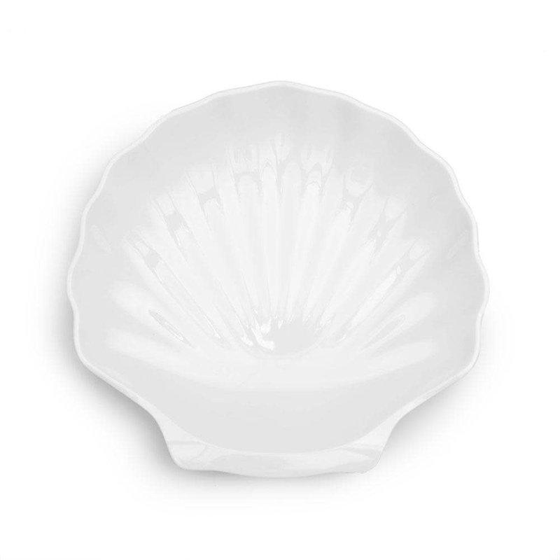"""MH Serveware - Melamine - Shell  Platter - White - 16""""D"""