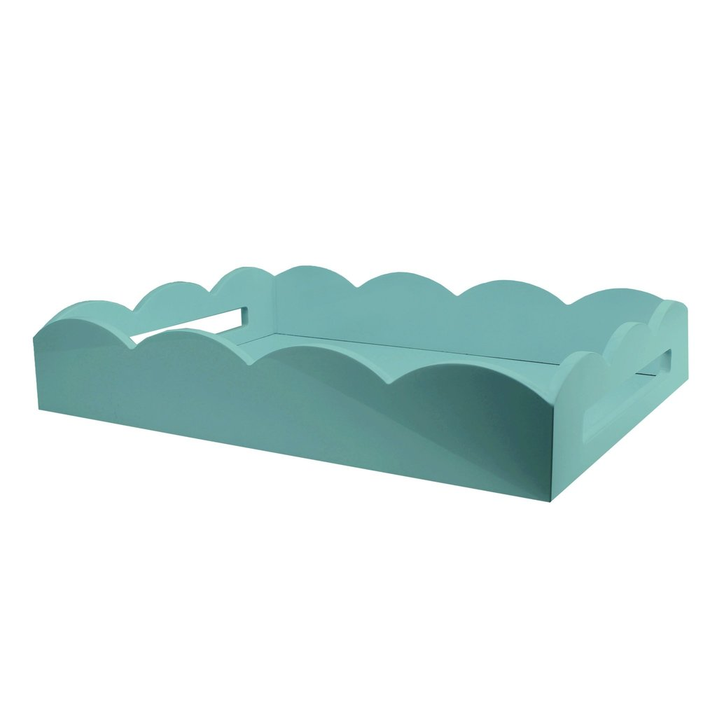 MH Tray - Scalloped Lacquered - Turquoise
