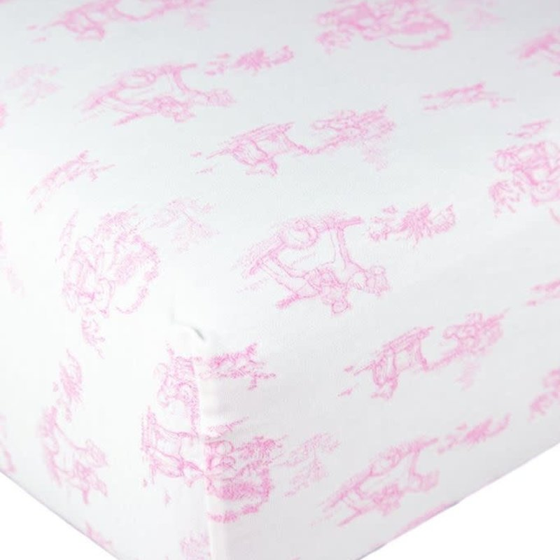 MH Toile - Crib Sheets - Pink
