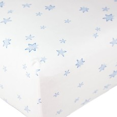 MH Star Print - Crib Sheets - Blue