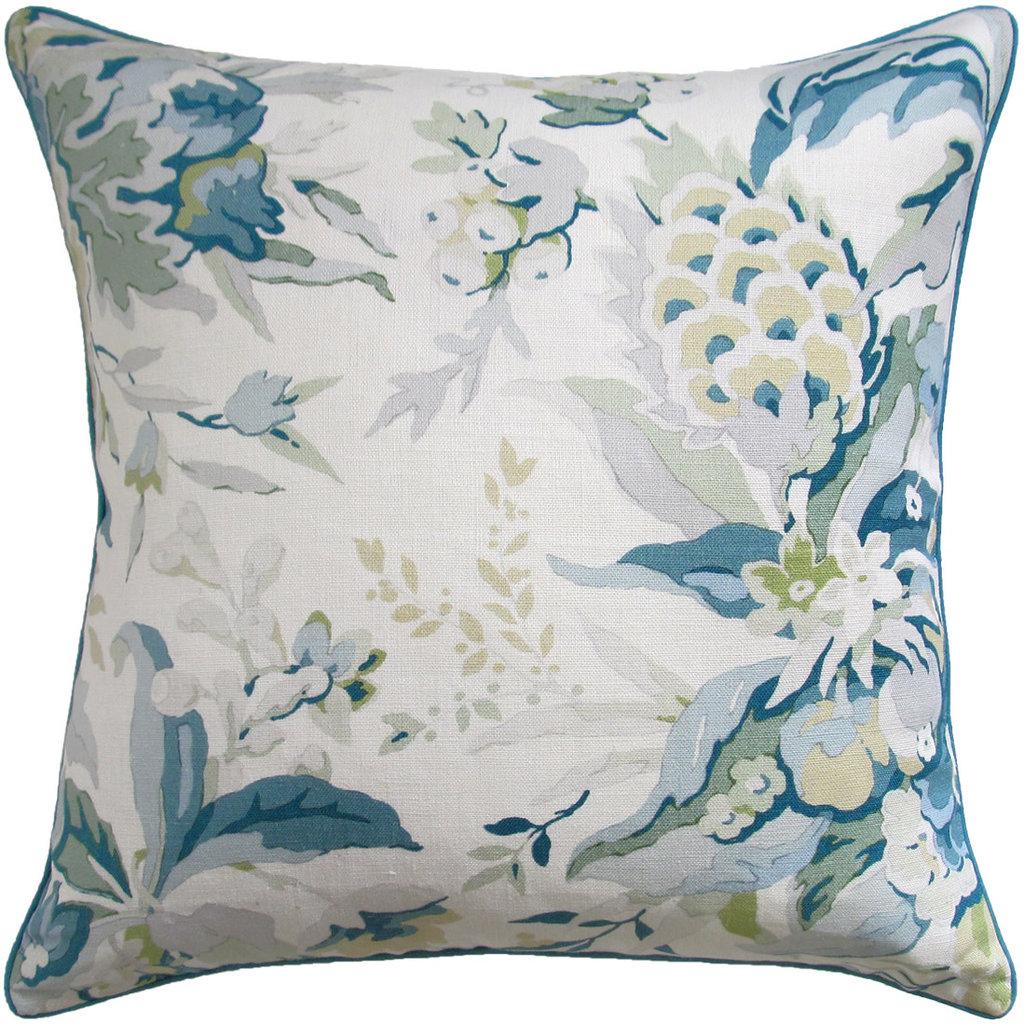 MH Horseshoe Bay - Piped - Pillow -  Aqua/Green - 22 x 22