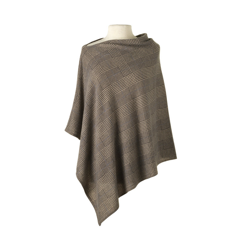 MH Cashmere Cape - Glen Plaid - More Colors