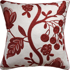 MH Alladale Embroidery - Piped -  Red - 22x22