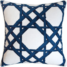 MH Cyrus Cane - Piped - Pillow -  Navy - 22 x 22