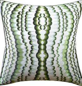 MH Ebru - Piped - Pillow - Embroidery Green - 22x22