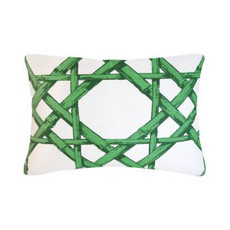 MH Cyrus Cane - Piped - Pillow - Emerald 14x20
