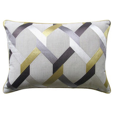 MH Posh -Piped Pillow - Mineral - Multiple Sizes