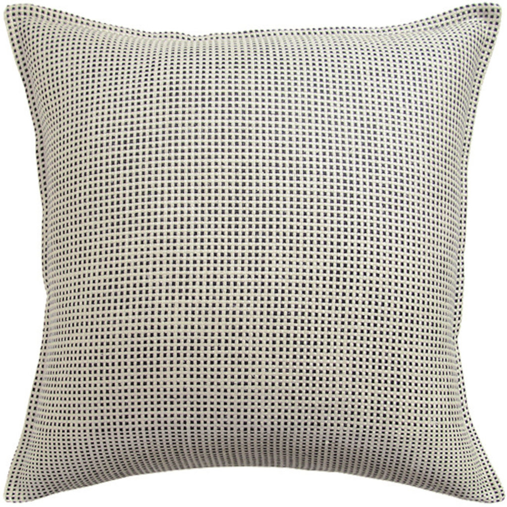 MH Kumano Weave - Flanged - Pillow - Ivory/Onyx - Multiple Sizes